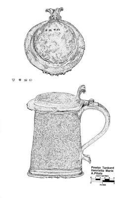 Artifact Drawing - Pewter Tankard