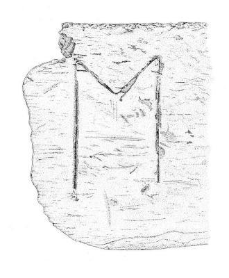 Artifact Drawing - 'M' Inscription