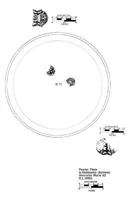 Artifact Drawing - Pewter Plate