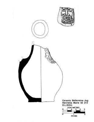 Artifact Drawing - Ceramic Bellermine Jug