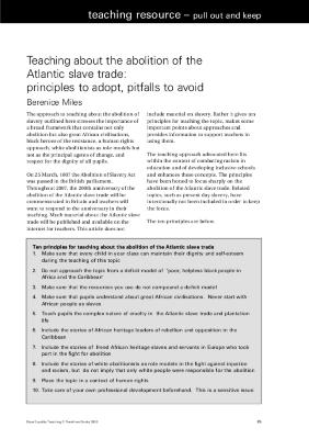 Module 5: Exploring Slavery Through Additional Resources